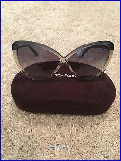 Gray Tom Ford Madison Cat-Eye Sunglasses