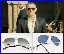 JAMES BOND SKYFALL Tom Ford MARKO FT0144 28W Rose Gold Blue Sunglasses Shades