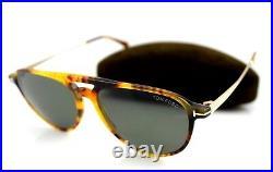 NEW Genuine TOM FORD CARLO-02 Light Havana Gold Sunglasses TF 587 FT 0587 55N