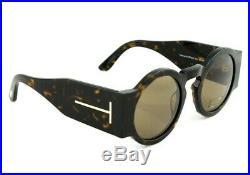 NEW Genuine TOM FORD TATIANA-02 Dark Havana Brown Sunglasses TF 603 FT 0603 52J