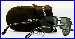 NEW TOM FORD COLE TF285 52F Gunmetal Havana Aviator Frame Grey Mirror 61mm Lens