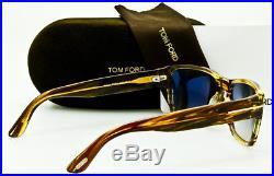 NEW TOM FORD MENS MASON TF445 50B Striped Tortoise Frame Grey Gradient 58mm Lens