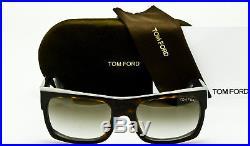 NEW TOM FORD MENS TOBY TF440 52K Dark Havana Frame Brown Gradient 56mm Lenses