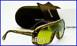 NEW TOM FORD SUNGLASSES SVEN TF471 41N Transparent Brown Frame Light Green Lens
