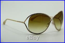 NEW TOM FORD TF 130 28F MIRANDA GOLD GRADIENT AUTHENTIC SUNGLASSES WithCASE 68-10