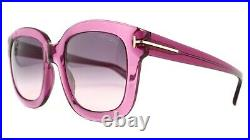 NEW TOM FORD TF 279 90W CHRISTOPHE PURPLE SUNGLASSES AUTHENTIC 53-23 WithCASE DD30