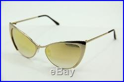 NEW TOM FORD TF 304 28G NASTASYA GOLD GRADIENT AUTHENTIC SUNGLASSES 56-17 WithCASE
