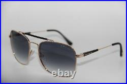 NEW TOM FORD TF 377 28W EDWARD GOLD GRADIENT SUNGLASSES WithCASE 60-17