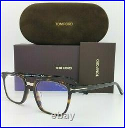 NEW Tom Ford Blue Block FT5523F-B/V 052 53mm Tortoise Classic AUTHENTIC FT5599F