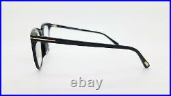 NEW Tom Ford Blue Block FT5599-F-B/V 001 53mm Black Gold Classic AUTHENTIC 5599