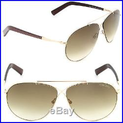 (NEW) Tom Ford Eva TF 374 28F Sunglasses Gold / Brown Gradient Lens FT0374