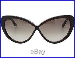 NEW Tom Ford FT0253-52F TF 253 Madison Havana/Gradient Brown 63mm Sunglasses