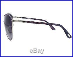 NEW Tom Ford FT0320-14B TF 320 Penelope Light Ruthenium Violet Brown Sunglasses