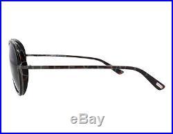 NEW Tom Ford FT0341-09P TF 341 Miles Dark Havana Grey Sunglasses (NO CASE)