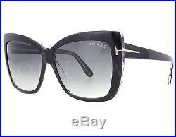 NEW Tom Ford FT0390 01B TF 390 Black / Grey Gradient Sunglasses
