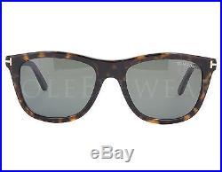 NEW Tom Ford FT500 52N Andrew Dark Havana / Grey Sunglasses