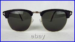 NEW Tom Ford Henry Vintage Sunglasses TF248 05N Black Gold Half Rim