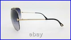 NEW Tom Ford Ondria Sunglasses FT519S 28B 00mm Gold Grey Gradient GENUINE Shield