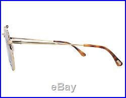 NEW Tom Ford Sean FT0536 028C Gold / Silver Mirror Sunglasses