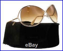 NEW Tom Ford Sunglasses TF 130 MIRANDA Beige Gold 28F TF130 Woman's