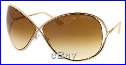 NEW Tom Ford Sunglasses TF 130 MIRANDA Shiny Rose Gold 28F TF130 68mm