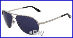 NEW Tom Ford Sunglasses TF 144 Silver 18V MARKO Men Aviator 58mm