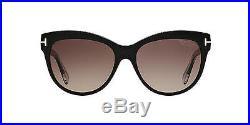 NWT Tom Ford Sunglasses Lily TF 430 05D Polarized Black / Grey 56 mm TF0430 NIB