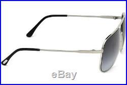 NWT Tom Ford Sunglasses TF 451 16W Dominic Palladium / Blue Gradient 60 mm NIB
