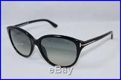 New Authentic TOM FORD KARMEN TF329-01B Shiny Black / Smoke Gradient Sunglasses