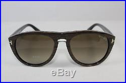 41c39dded4 New Authentic TOM FORD KURT TF9347-05K Wood Streak   Brown Gradient  Sunglasses