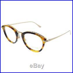 New Authentic Tom Ford FT 5497 055 Light Havana Plastic Oval Eyeglasses 48mm