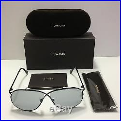 New Authentic Tom Ford Tom N. 6 01C Private Collection Shiny Black/Smoke Aviator