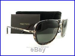 New TOM FORD Sunglasses TF340 Riccardo 28N Tortoise Gold FT0340/S Authentic