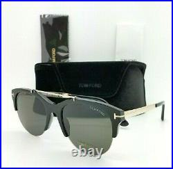 New Tom Ford Adrenne sunglasses FT0517/S 01A 55mm Black Gold Grey AUTHENTIC Bar
