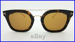 New Tom Ford Alex sunglasses FT0541 52E 51mm Dark Havana Gold Brown AUTHENTIC