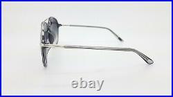 New Tom Ford Aviator sunglasses FT0637-K/S 20C 62 Silver Silver Mirror Gradient