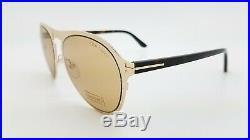 New Tom Ford Bradburry sunglasses TF0525 28E 56mm Gold Brown AUTHENTIC McQueen