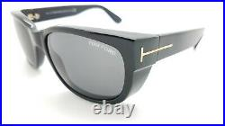 New Tom Ford Carson sunglasses FT0441/S 01A 56mm Black Gold Grey AUTHENTIC 441