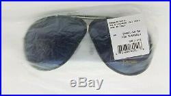 New Tom Ford Cedric Aviator sunglasses TF0509 02V 65mm Black Blue AUTHENTIC 509