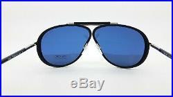 New Tom Ford Cedric sunglasses FT0509/S 02V 65mm Black Blue AUTHENTIC Aviator