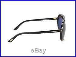 New Tom Ford Designer TF0379 01A Black Gold Vintage Retro Aviator Sunglasses