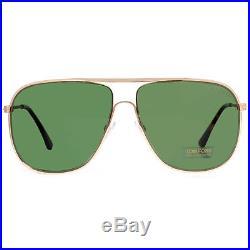 New Tom Ford Dominic TF451 28N Gold Havana/Green Men Aviator Sunglasses F/Ship