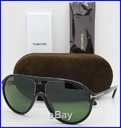 a4179dfba4f New Tom Ford Edison sunglasses TF0443 01N 59mm Aviator Black Grey Green TF  443
