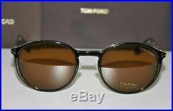 New Tom Ford FT 5476 28E Eyeglasses Rose Gold Havana Frame Clip On Sunglasses 50
