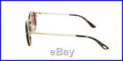 New Tom Ford FT 5476 28E Eyeglasses Rose Gold Havana Frame Clip Sunglasses 50mm