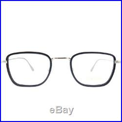 New Tom Ford FT 5522 001 Black Metal & Plastic Square Eyeglasses 49mm