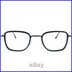 New Tom Ford FT 5522 005 Black Metal & Plastic Square Eyeglasses 49mm