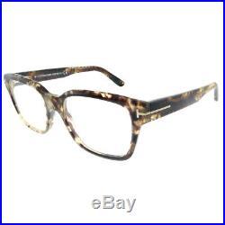 New Tom Ford FT 5535B 056 Beige Havana Plastic Square Eyeglasses 54mm