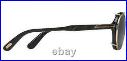 New Tom Ford FT 5561 63D Gold Black Real Horn Eyeglasses Private Collection N. 15