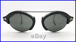 New Tom Ford Farrah Oval sunglasses FT0631/S 01A 49mm Black Grey AUTHENTIC TF631